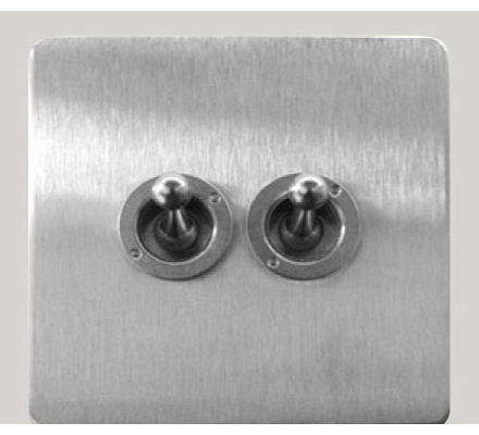 Invisible Perspex Rotary Dimmer Switches