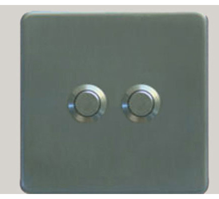 Single Wall Dimmer Switches plate 2 Button